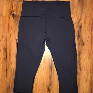 Lululemon Womens Blue Crop Leggings Sz 8
